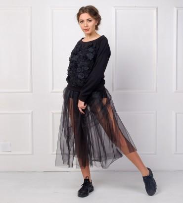 Одежда черная фатиновая юбка