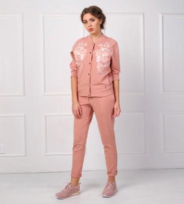 Одежда спортивный костюм розовый Афины
