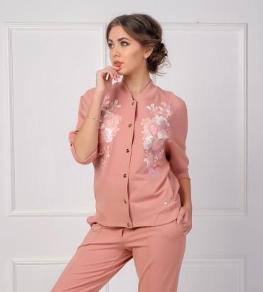 Одежда розовый бомбер Афины