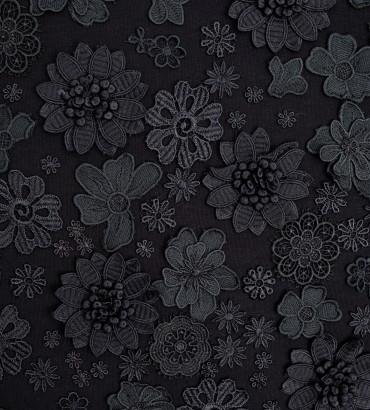 Одежда свитшот черный  с кружевом Алекса black 2