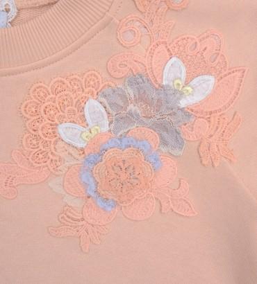 Одежда персиковый спортивный костюм с кружевом Твигги 2