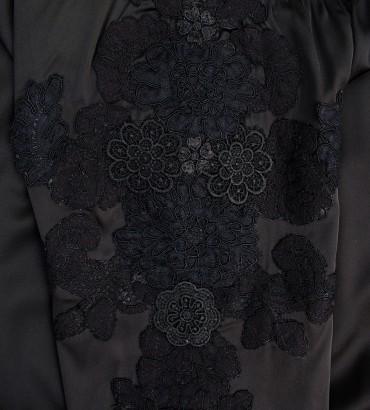 Одежда черный бомбер женский шёлк  2