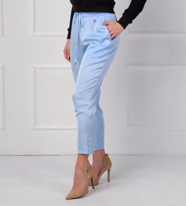 Одежда голубые брюки женские шёлк