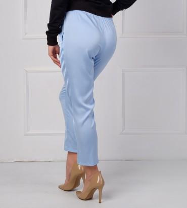 Одежда голубые брюки женские шёлк 2