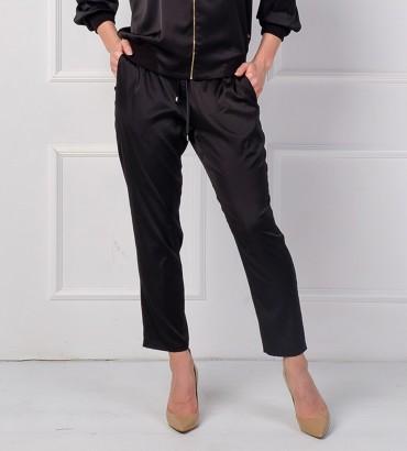Одежда черный брюки шёлк