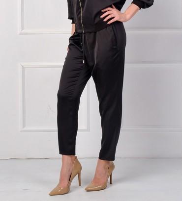 Одежда черный брюки шёлк 2