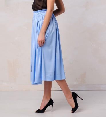Одежда голубая юбка шелк  2