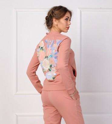 Одежда бомбер женский с кружевом Валенсия
