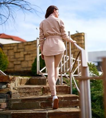 Богемия - КОСТЮМ бежевый двойка с брюками 2