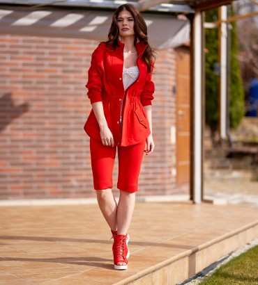 Мишель - КОСТЮМ красный двойка с шортами 2