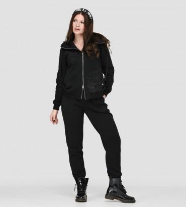 Теплый спортивный костюм Симона new черного цвета