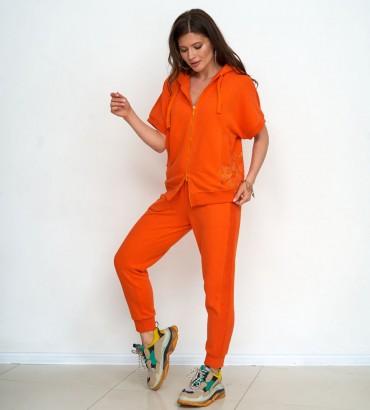 Одежда спортивный костюм оранжевого цвета Ленория sport