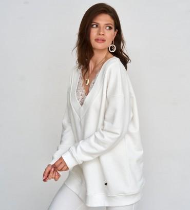 Женская одежда свитшот Мона молочного цвета