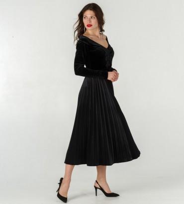 Женский костюм Эсмеральда комбидресс с юбкой солье черного цвета