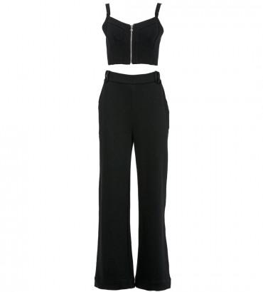 Женский костюм Лорен топ с брюками черного цвета