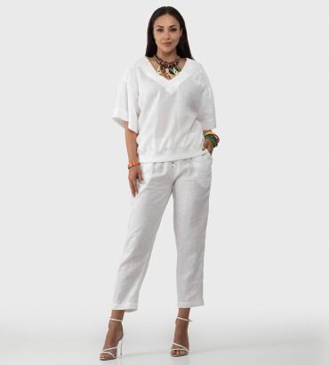 Одежда костюм белого цвета Итака лен