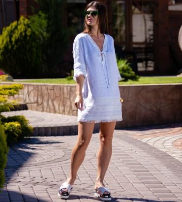Короткое платье белого цвета цвета Эллада