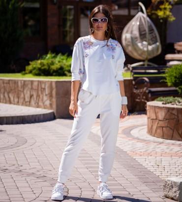 Одежда костюм белого цвета Оливия light