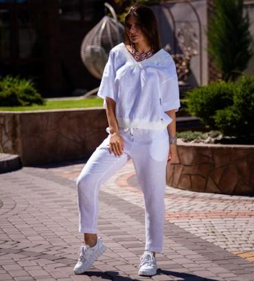 Одежда костюм молочного цвета Итака лен