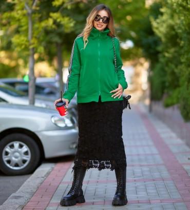 Одежда бомбер зеленый Аден style
