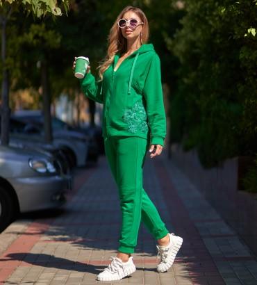 Одежда спортивный костюм зеленый Ленория long