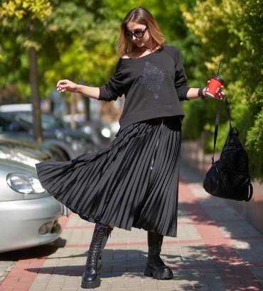 Женская одежда свитшот черный Флора
