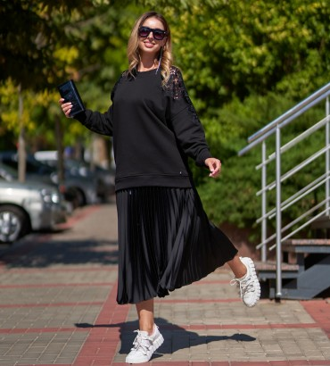 Женская одежда свитшот черный Лейла