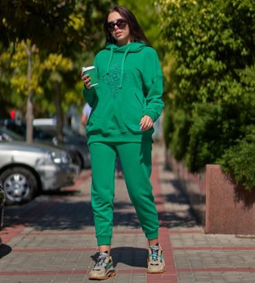 Одежда спортивный костюм зеленый Флора