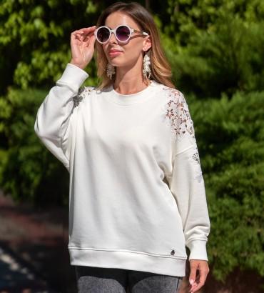 Женская одежда свитшот молочного цвета Лейла