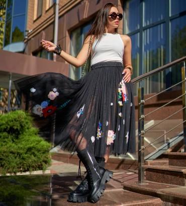 Одежда юбка летняя с кружевом