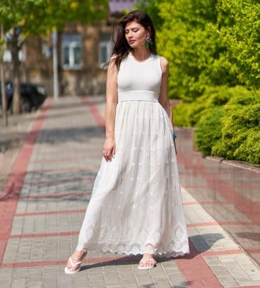 Женское белое платье Адалин