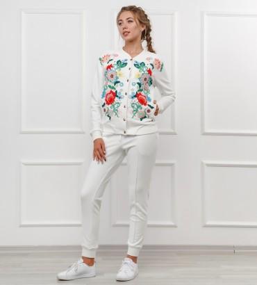 Одежда женский белый спортивный костюм Версаль
