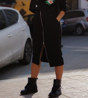 Миди юбка черного цвета габи