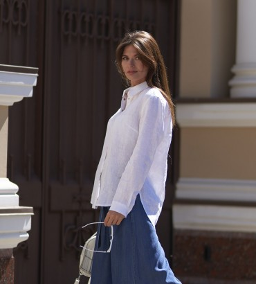 Блуза  Ваниль молочного цвета