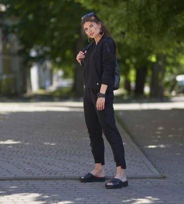 летний черный женский спортивный костюм Бетти