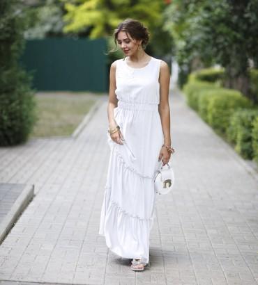 Одежда платье длинное белое Венера