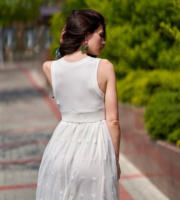 Женское белое платье Адалин 2