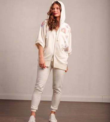 Женский спортивный костюм белого цвета Оливия