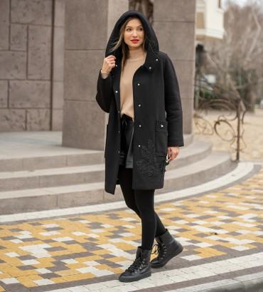 Одежда пальто женское черное Амели