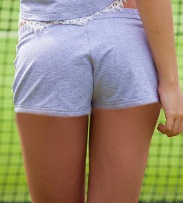 Одежда серые шорты женские 2